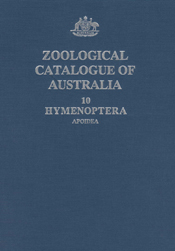 The cover image of Zoological Catalogue of Australia Volume 10, featuring