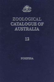 The cover image of Zoological Catalogue of Australia Volume 12, featuring