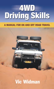 The cover image of 4WD Driving Skills, featuring a white 4WD driving direc