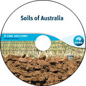 Image of Soils of Australia DVD, featuring a cross-section of soil and gra
