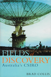 The cover image of Fields of Discovery, featuring a blue tinted photograph
