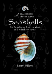 Cover image for Handbook to Australian Seashells, featuring a single white