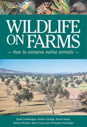 The cover image of Wildlife on Farms, featuring a panoramic view of farm l