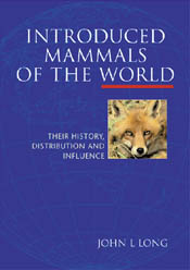 The cover image of Introduced Mammals of the World, featuring a fox head,