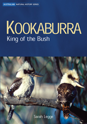 The cover image of Kookaburra, featuring two kookaburras sitting on a bran