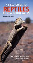 Cover image of Field Guide to Reptiles of New South Wales, featuring a gre