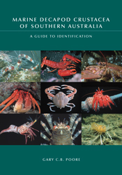 The cover image of Marine Decapod Crustacea of Southern Australia, featuri