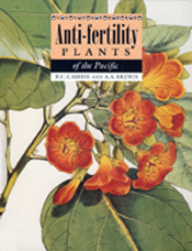 The cover image of Anti-Fertility Plants of the Pacific, featuring orange