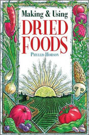 Cover image of Making and Using Dried Foods, featuring coloured drawings o