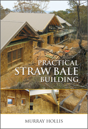 The cover image featuring a straw bale building with a pale grey steeped r