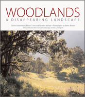 The cover image of Woodlands, featuring woodlands around a clearing of sho