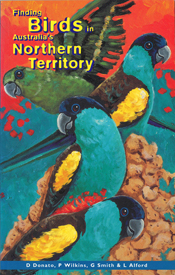 The cover image featuring three bright blue and yellow birds sitting, and