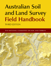 The cover image of Australian Soil and Land Survey Field Handbook, featuri