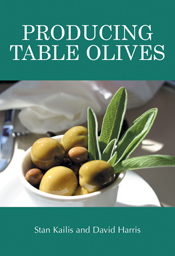 The cover image of Producing Table Olives, featuring a small white bowl of