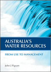 The cover image of Australia's Water Resources, featuring a blue close up