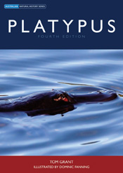 The cover image of Platypus, featuring a platypus with its head just out o