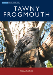 The cover image of Tawny Frogmouth, featuring a Tawny Frogmouth perched on