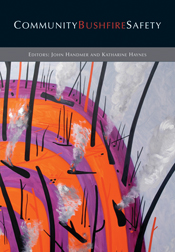 The cover image of Community Bushfire Safety, featuring purple and orange