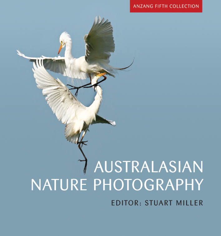 The cover image of Australasian Nature Photography, featuring two large wh