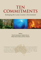 The cover image of Ten Commitments, featuring three images in a row, the f