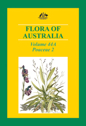 The cover image of Flora of Australia Volume 44A, featuring a green spiky