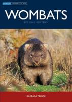 The cover image of Wombats, featuring a frontal view of a wombat standing