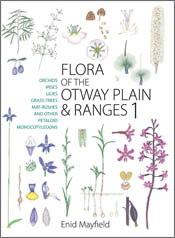 The cover image of Flora of the Otway Plain and Ranges 1, featuring variou