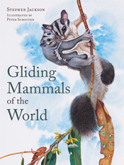 The cover image of Gliding Mammals of the World, featuring a possum with a