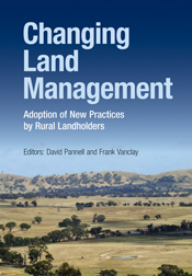 The cover image of Changing Land Management, featuring a landscape view of