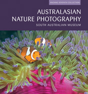 The cover image of Australasian Nature Photography, featuring two orange c