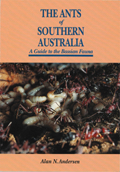 The cover image of The Ants of Southern Australian, featuring ants walking