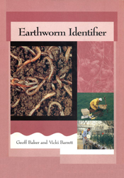 The cover image of Earthworm Identifier, featuring worms in dirt and peopl