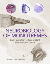 The cover image of Neurobiology of Monotremes, featuring a picture of a pl