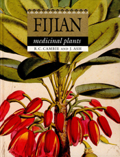 The cover image of Fijian Medicinal Plants, featuring bright red berries,