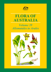 The cover image of Flora of Australia Volume 39, featuring bright green au