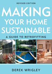 The cover image of Making Your Home Sustainable, features a collection of