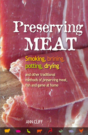 Cover is close image of slices of preserved pale red meat.