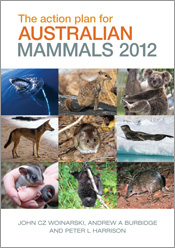 Cover is nine tiled images of Australian mammals.