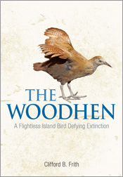 Cover image of Woodhen, featuring the side view of a golden brown woodhen