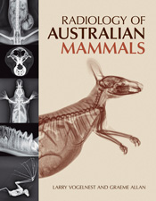 The cover image of Radiology of Australian Mammals, featuring a radiograph