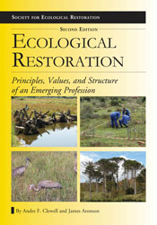 Cover image is four ecological restoration images against a yellow backgro