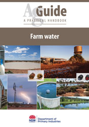 Cover image is a collage of water usage related to farms.