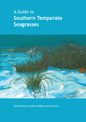 The cover image featuring a picture of seagrass in the ocean with a bright