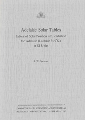 cover of Adelaide Solar Tables