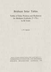 cover of Brisbane Solar Tables