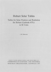 Hobart Solar Tables