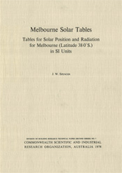 cover of Melbourne Solar Tables