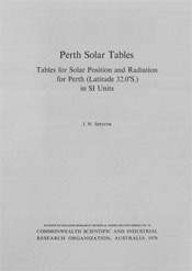 cover of Perth Solar Tables