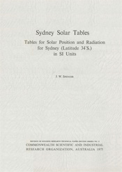 cover of Sydney Solar Tables