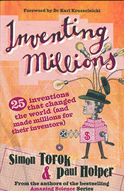 Cover image of Inventing Millions, features an illustration of a man in a